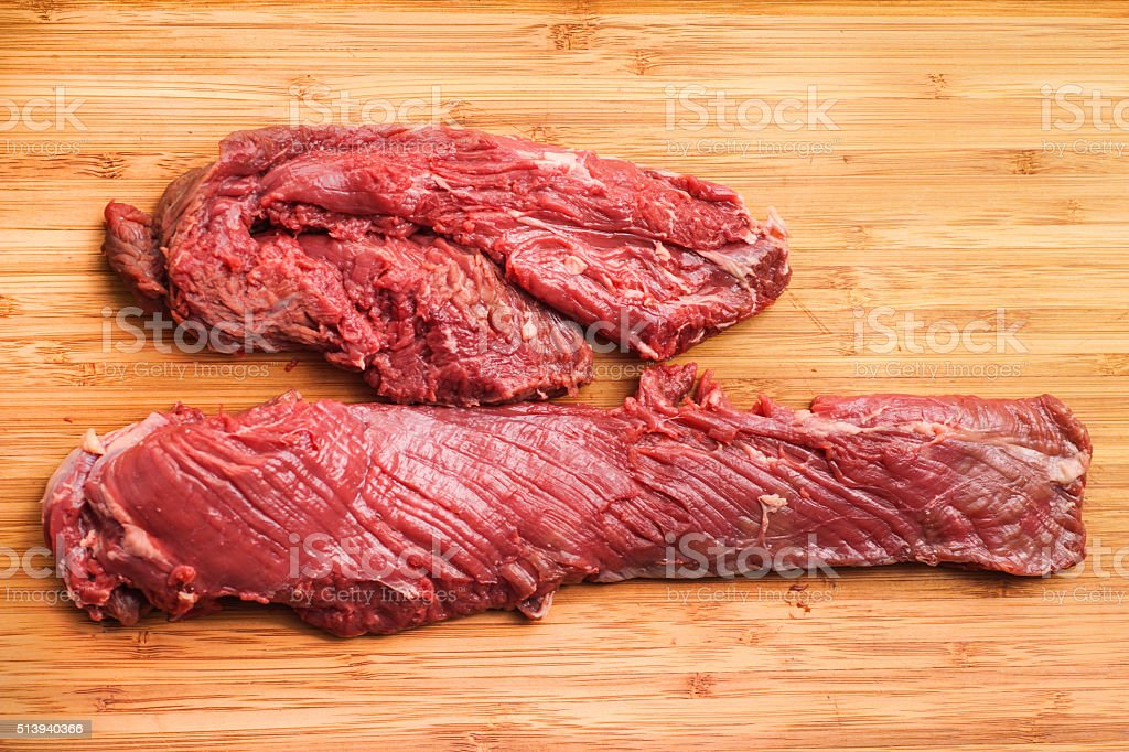 Hanging tender, Hanger steak, onglet stock photo