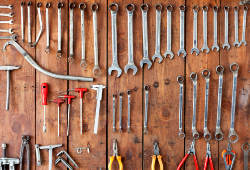 Hanging Tools Stock Photo - Download Image Now - iStock