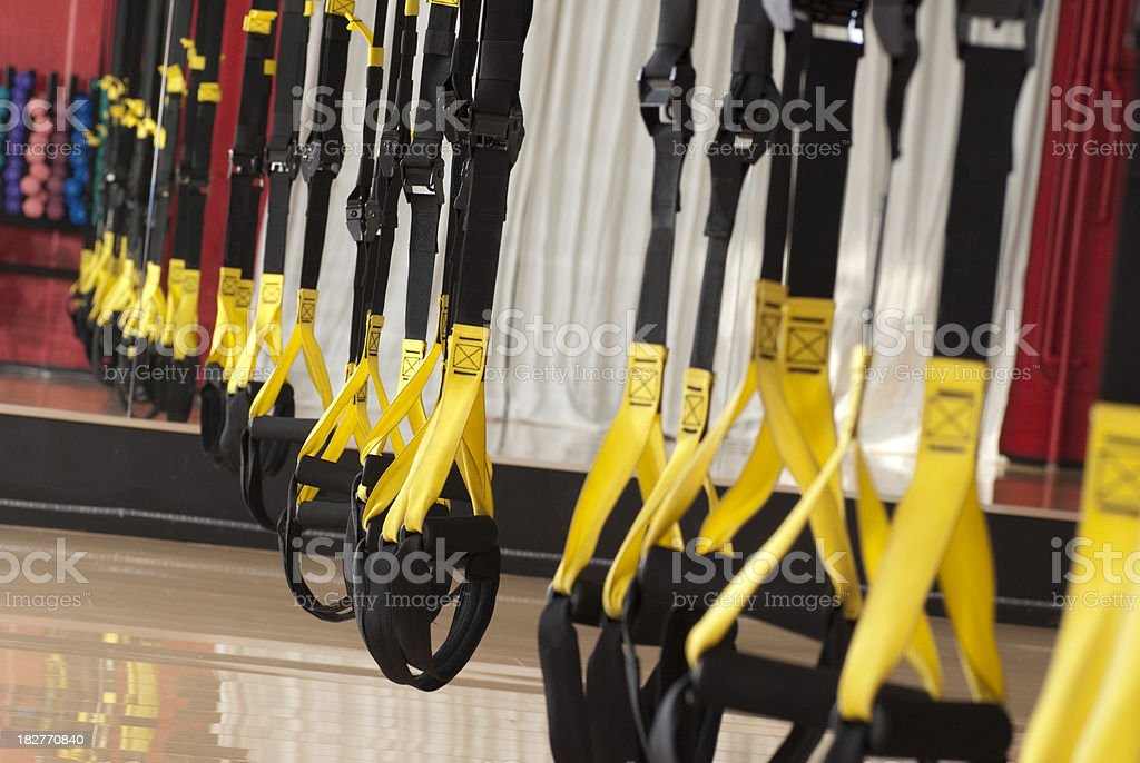 Hanging TRX Fitness Straps - Series royalty-free stock photo
