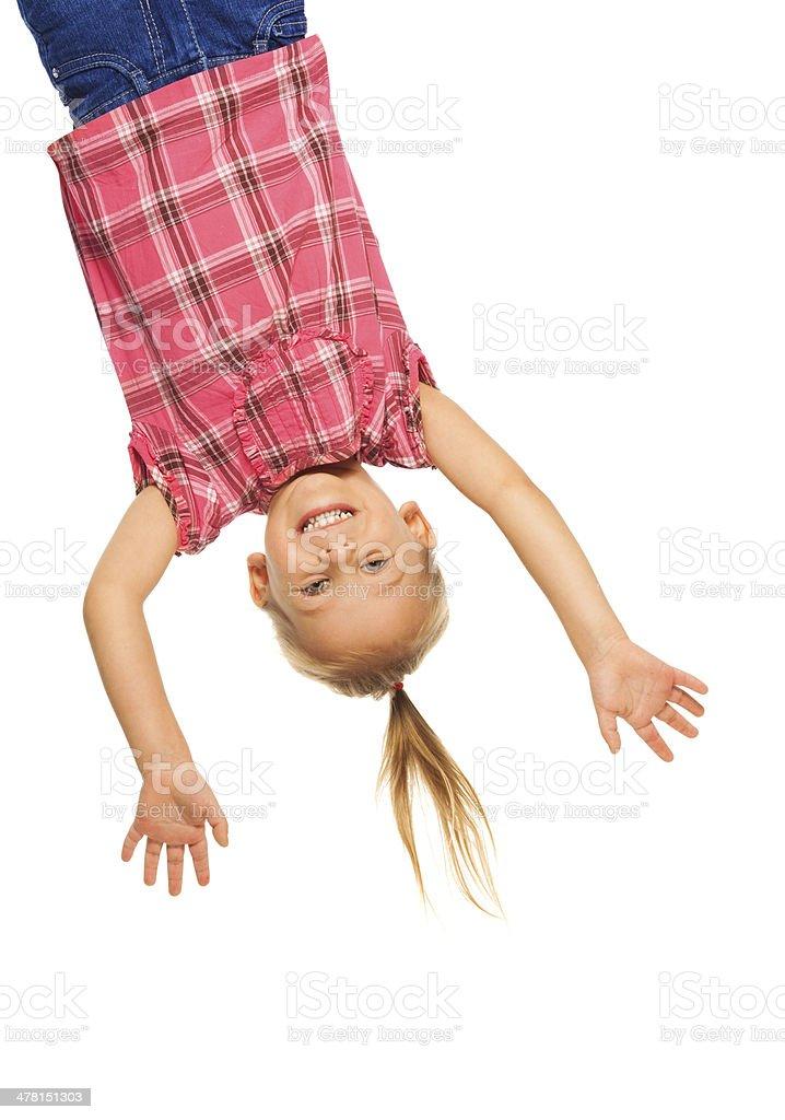 Hanging upside down stock photo