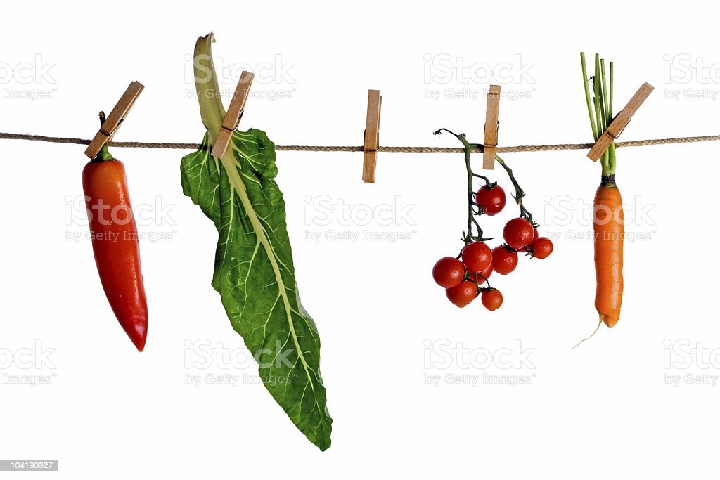 Hanging vegetables royalty-free stock photo