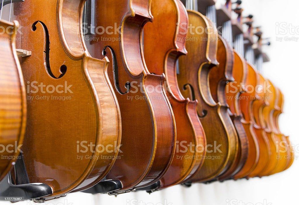 Hanging Violins royalty-free stock photo