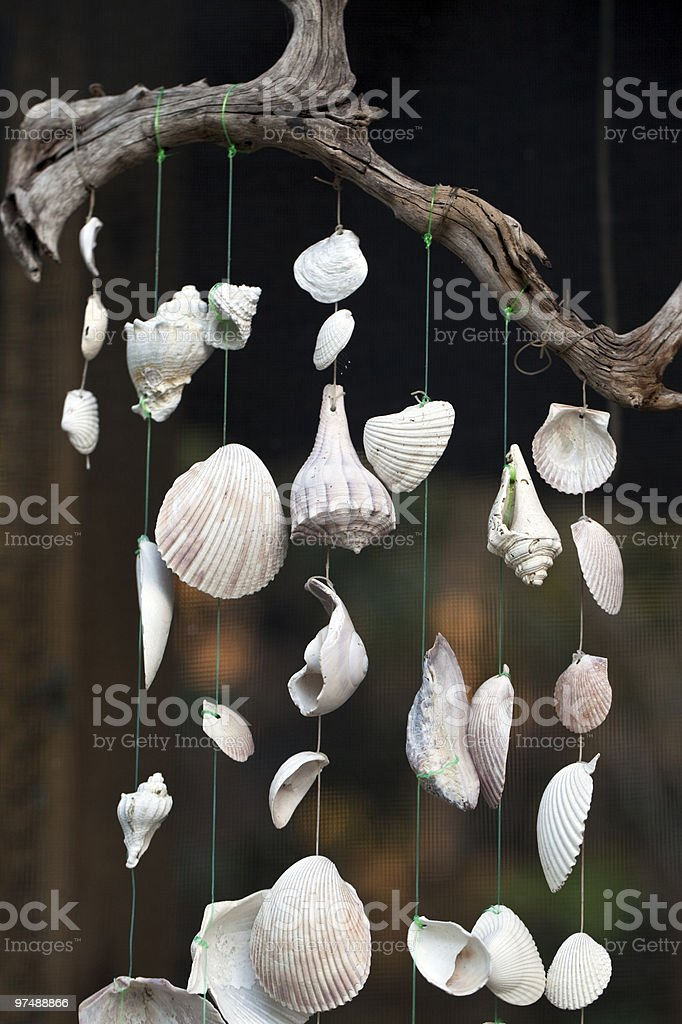 Hanging wind chime royalty-free stock photo