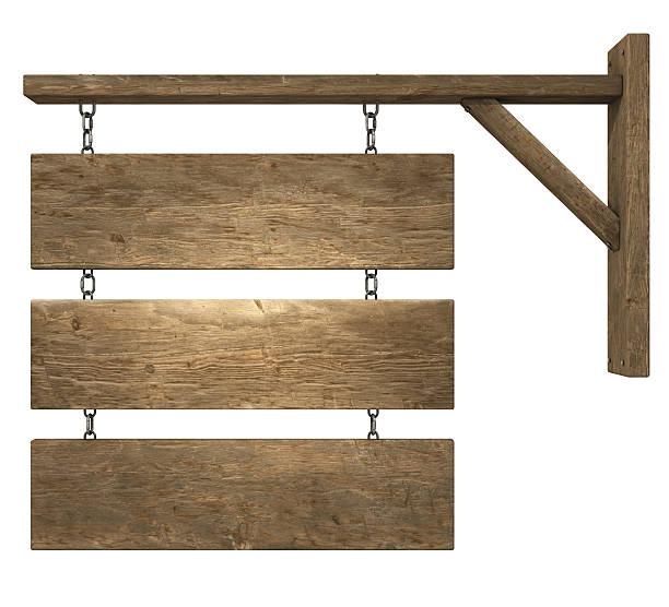 Hanging Holz Schild – Foto