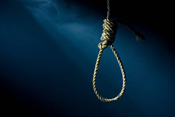 hangman noose with a dramatic background stock photo