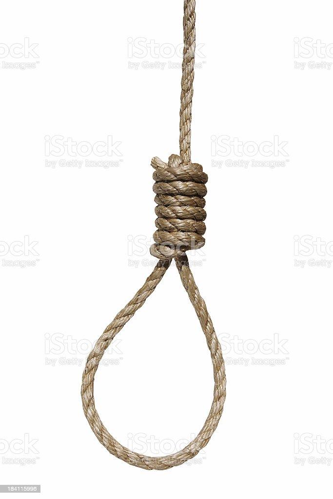 hangman's noose stock photo