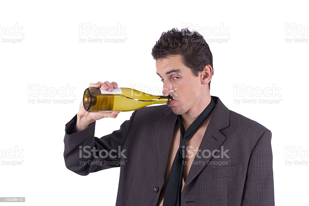 Hangover after party thirst royalty-free stock photo