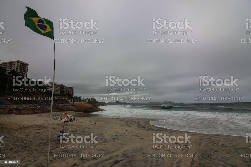 Hangover on the coast of Rio de Janeiro stock photo