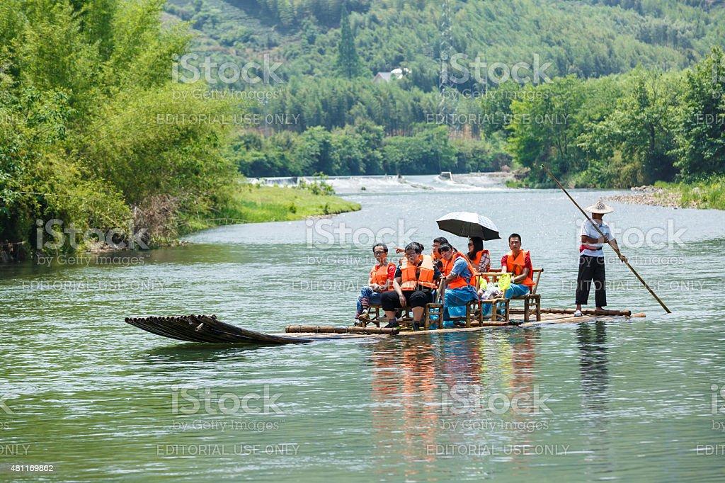 Hangzhou Sungai ziehen die malerische Landschaft , in Hangzhou, China Lizenzfreies stock-foto