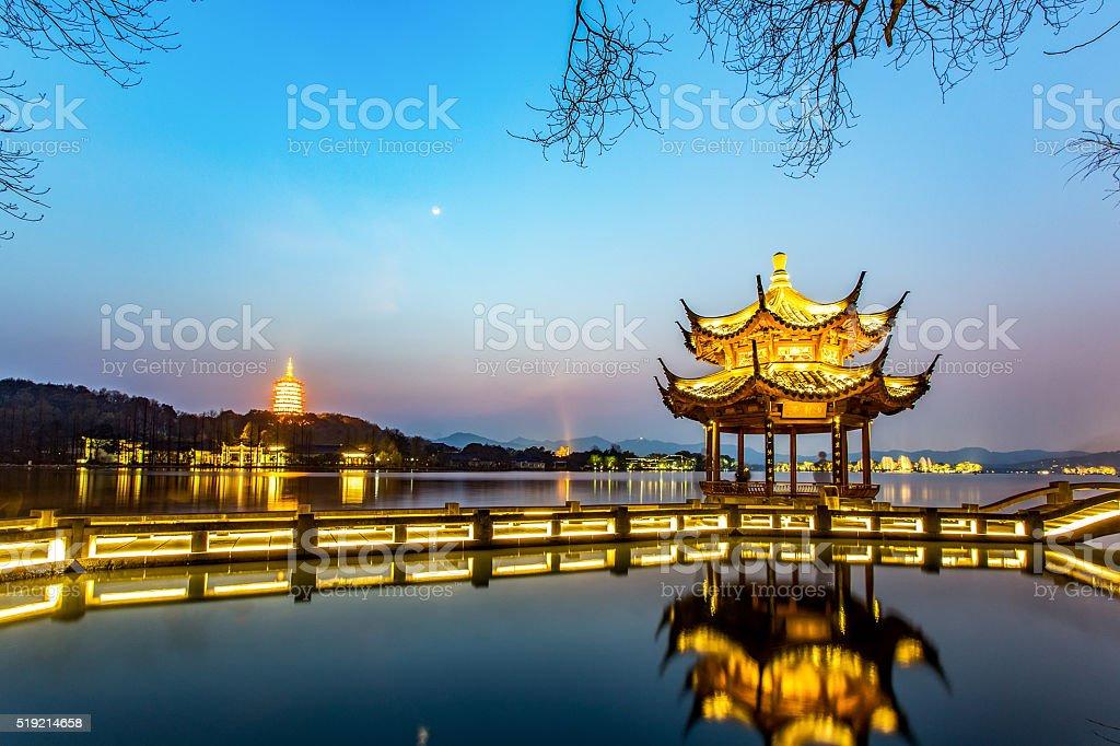 Hangzhou west lake stock photo
