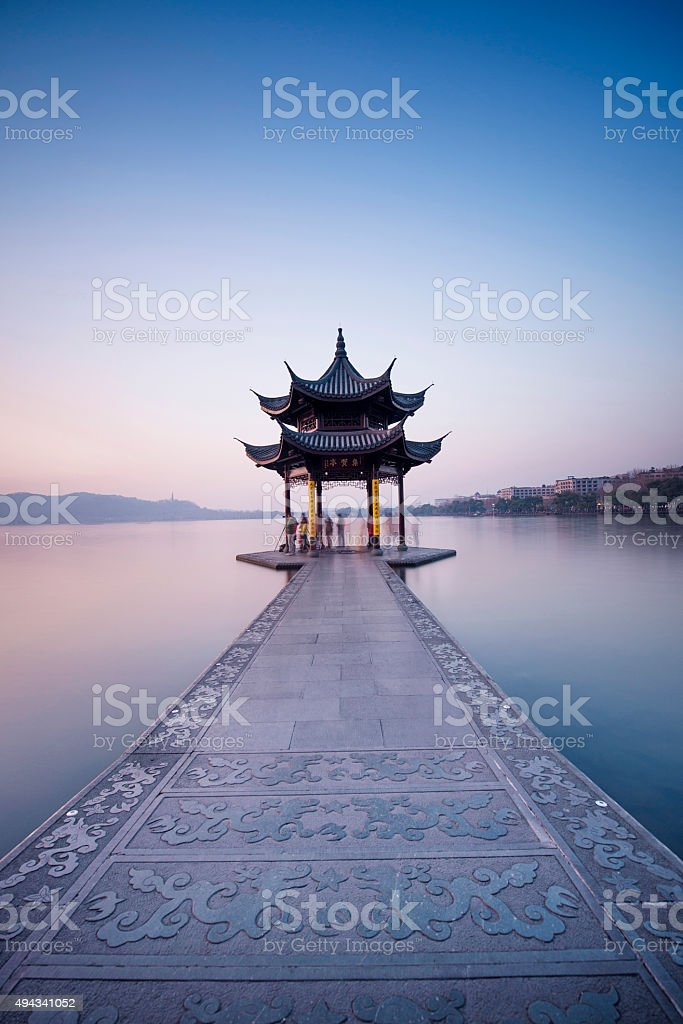 hangzhou westlake stock photo
