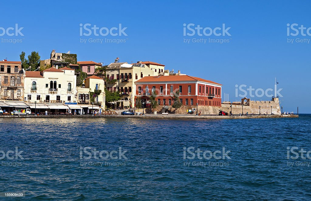 Hania city at Crete island stock photo
