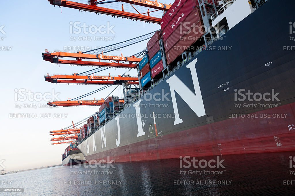 Hanjin United Kingdom at the Euromax termina stock photo
