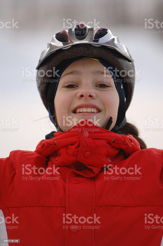 Hannah's helmet royalty-free stock photo
