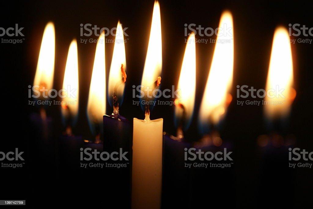 Hannukah Candles stock photo