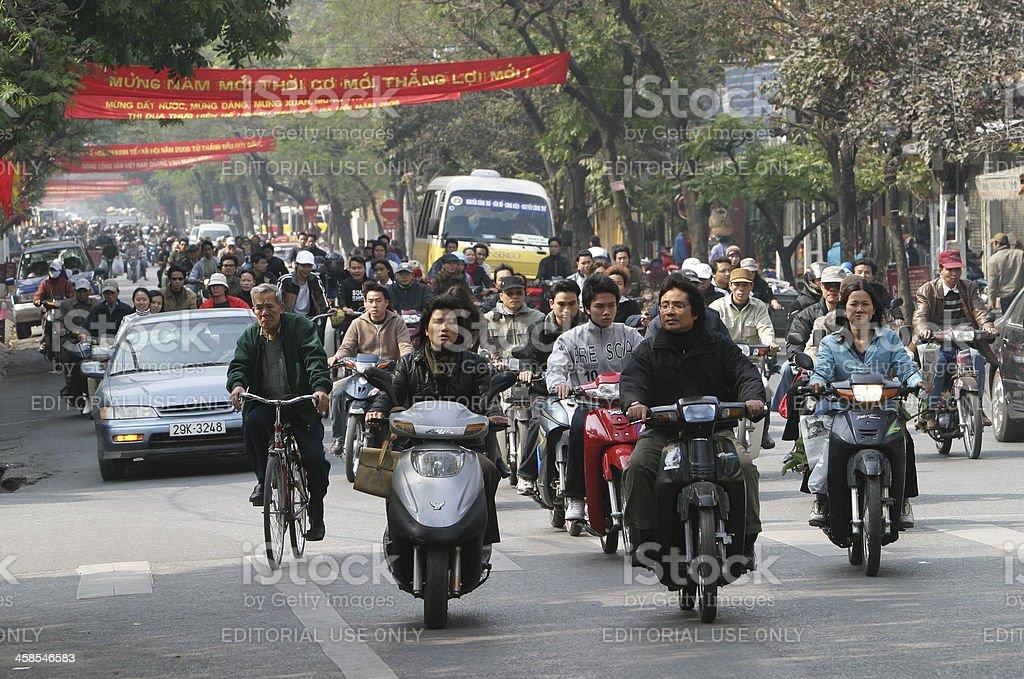 Hanoi, City of Motorbikes royalty-free stock photo