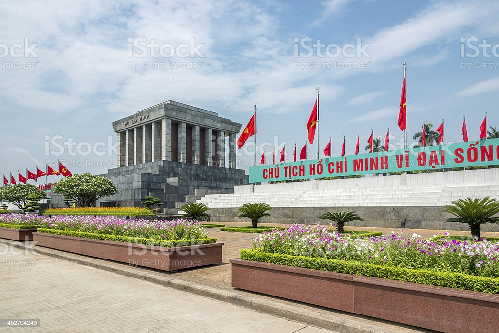 Hanoi Ho Chi Minh Mausoleum, Vietnam stock photo