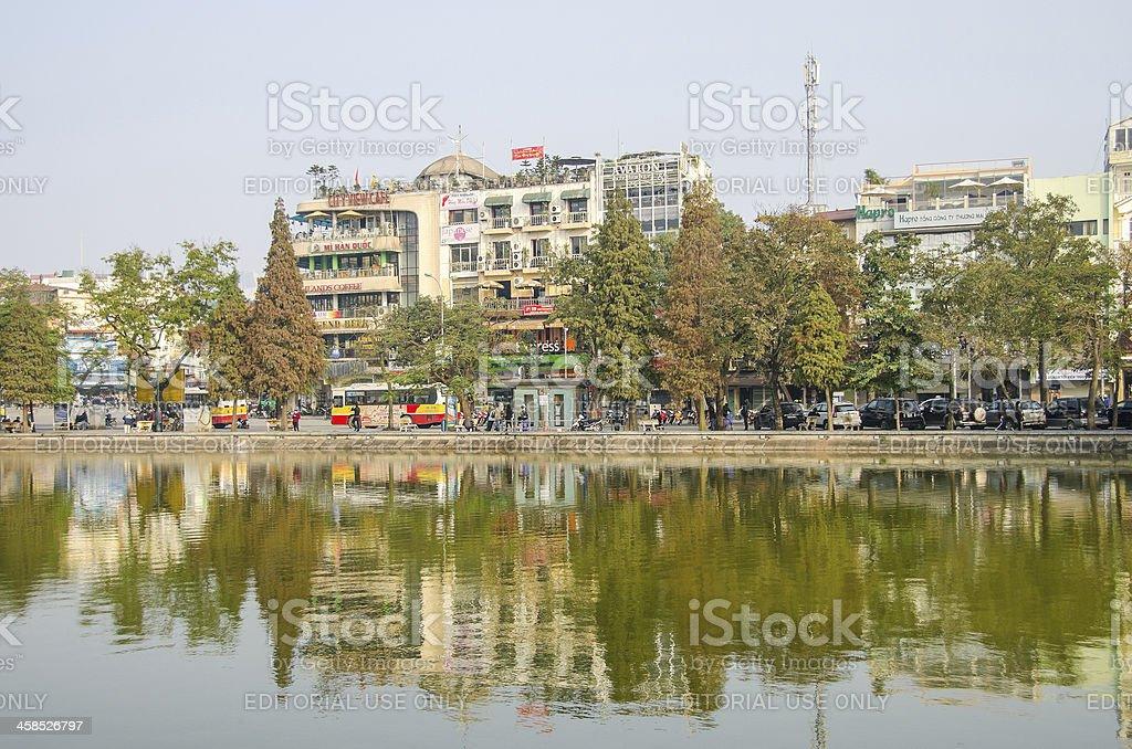 Hanoi - Hoan Kiem Lake royalty-free stock photo