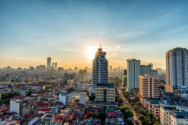Hanoi Skyline Hanoi Skyline hanoi stock pictures, royalty-free photos & images