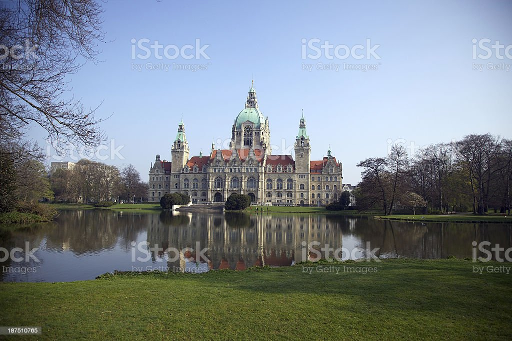 Rathaus Hannover stock photo