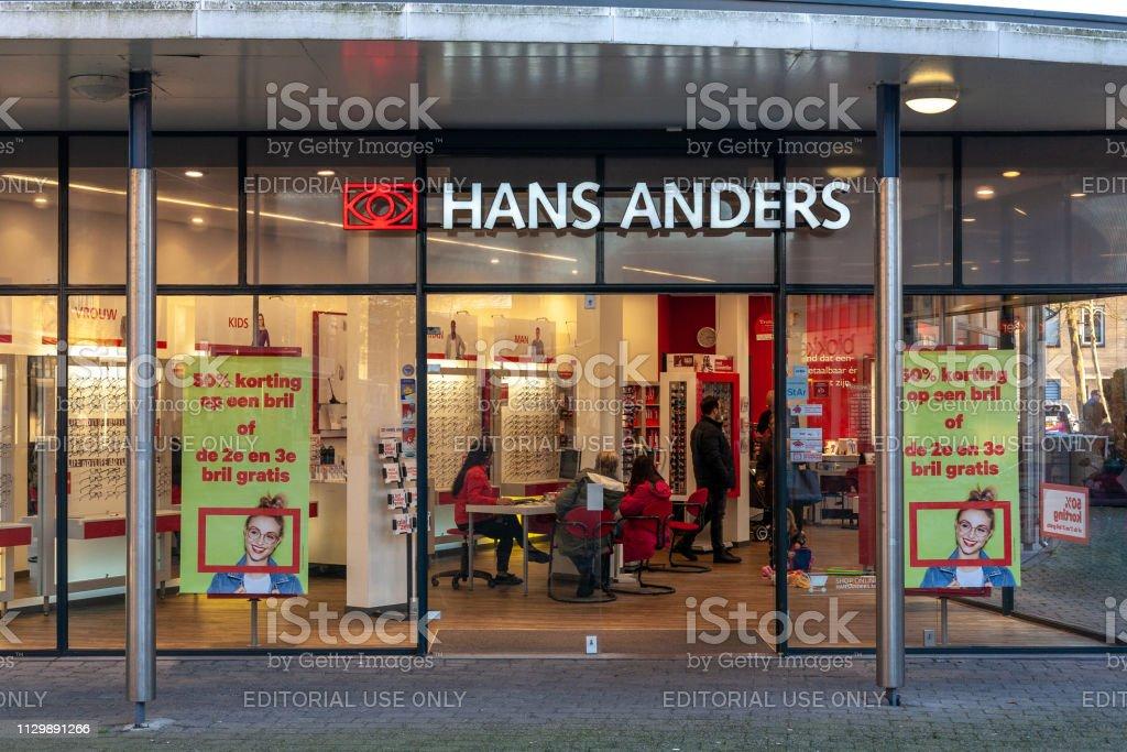 Hans Anders opticien winkel in Amersfoort Emiclaer, Nederland-2019 foto
