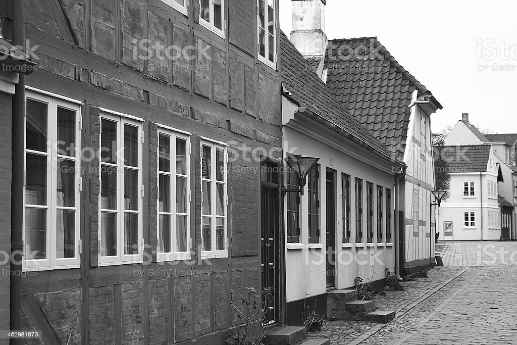 Hans Christian Andersen home town Odense royalty-free stock photo