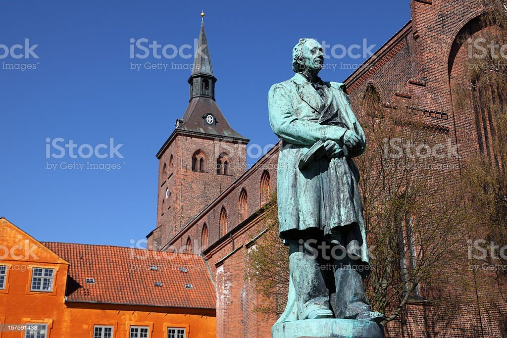 Hans Christian Andersen in his home town Odense royalty-free stock photo