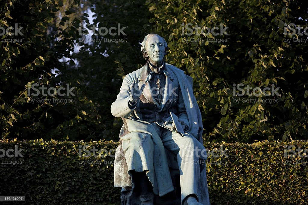 Hans Christian Andersen in Kings Garden, Copenhagen royalty-free stock photo
