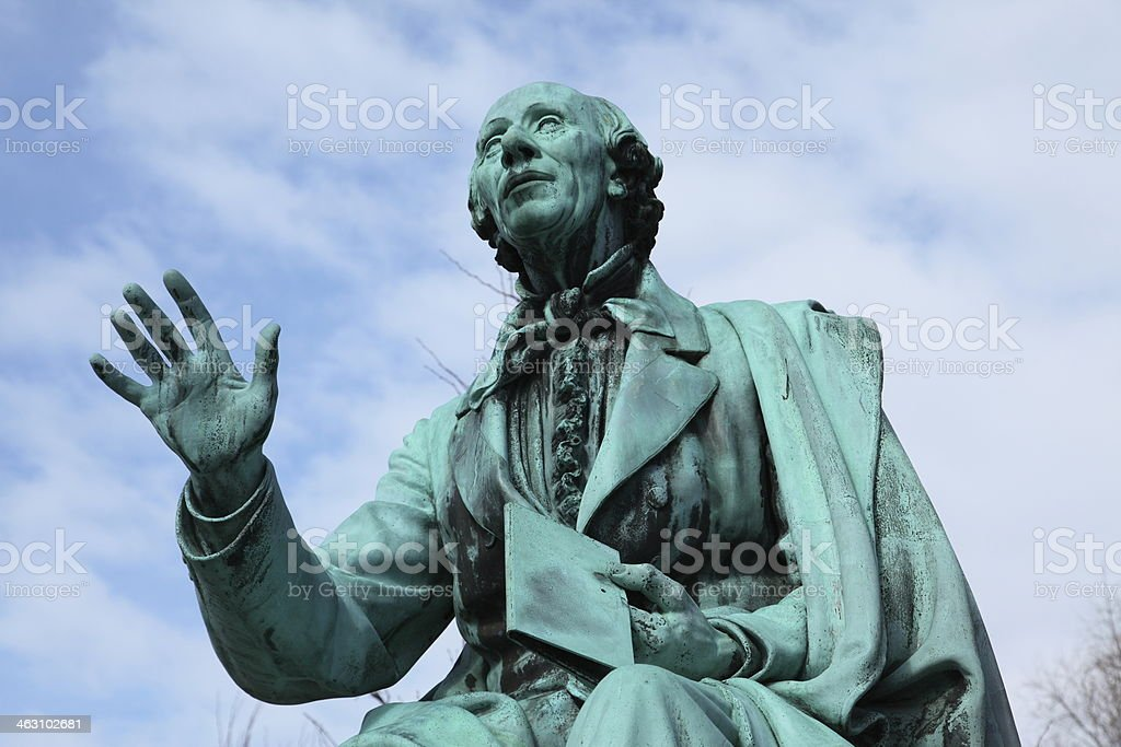 Hans Christian Andersen world famous poet in Kongens Have royalty-free stock photo