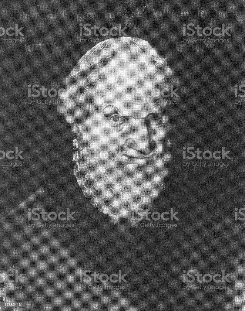 Hans Sachs, drawing XXL stock photo
