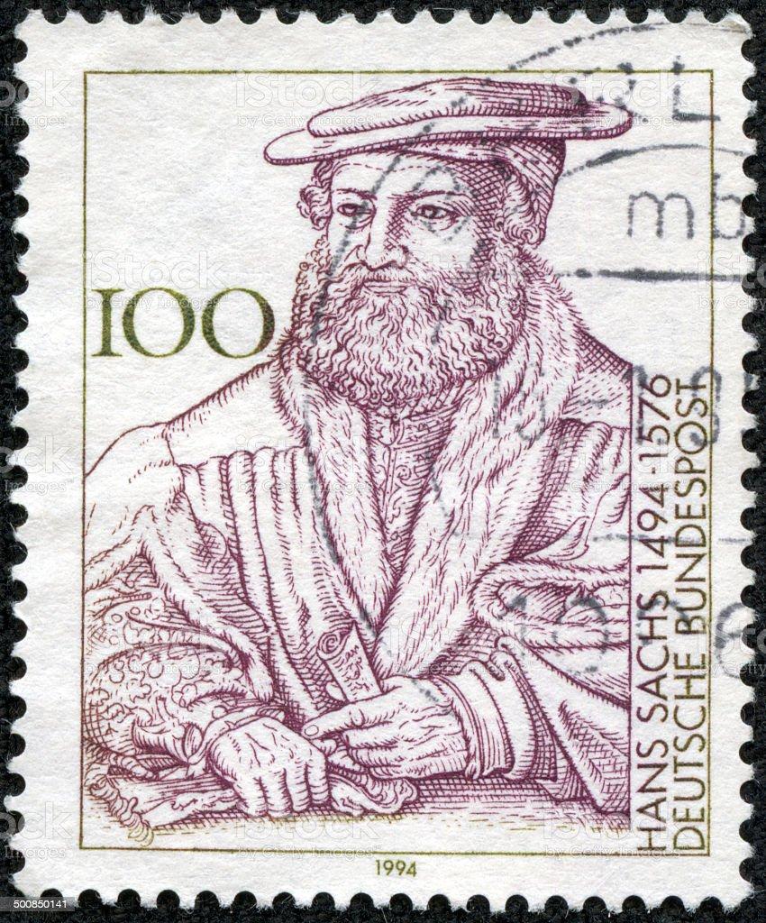 Hans Sachs  stamp stock photo