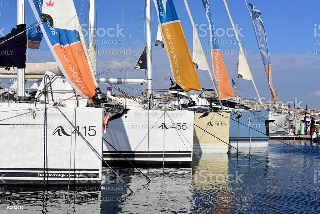 Hanse Turkey Hanse Yachts at Istanbul Boat Show stock photo
