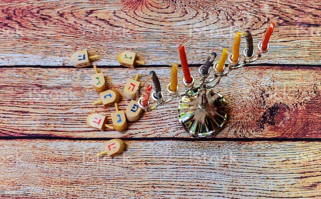 Hanukah candles celebrating the Jewish holiday royalty-free stock photo