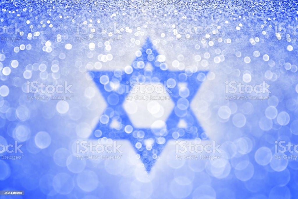 Hanouka Blue juive fond étoile de David - Photo
