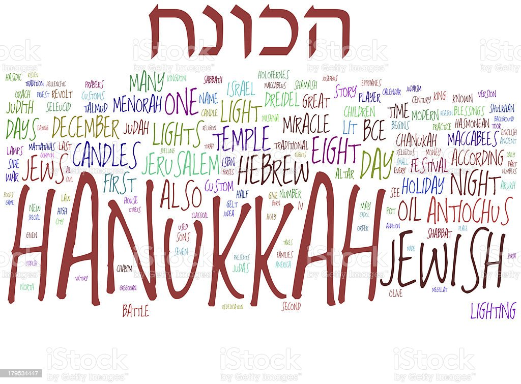Hanukkah collage concepts royalty-free stock photo