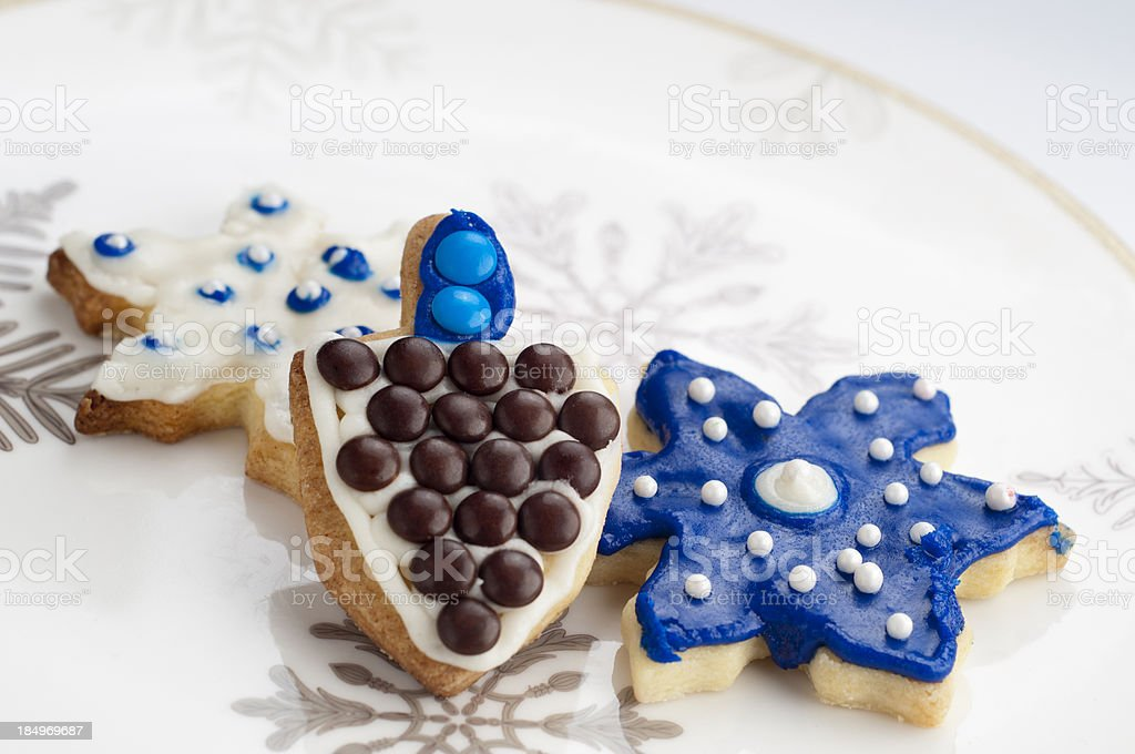 Hanukkah Cookies stock photo