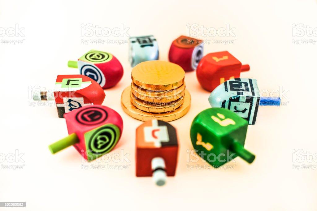 Hanukkah games stock photo