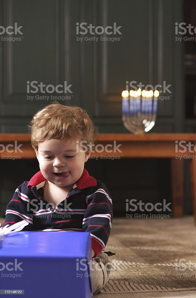 Hanukkah Presents stock photo