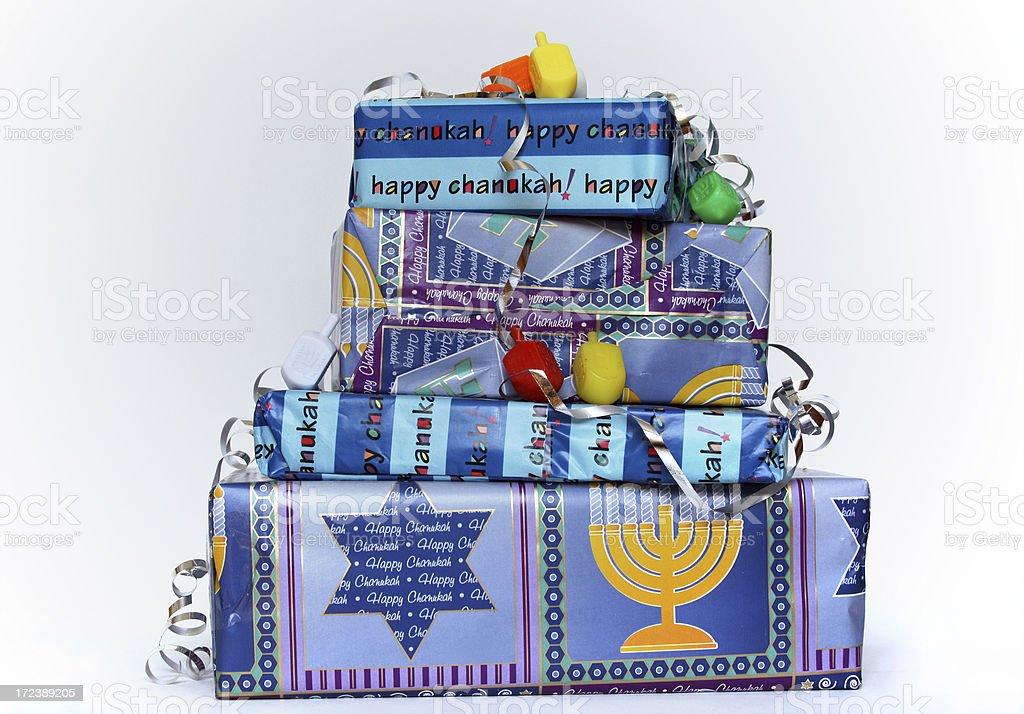Hanukkah presents royalty-free stock photo