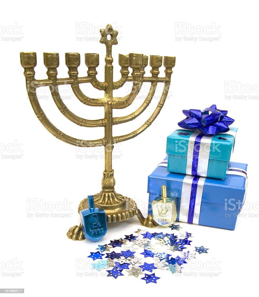 Hanukkah Still Life royalty-free stock photo