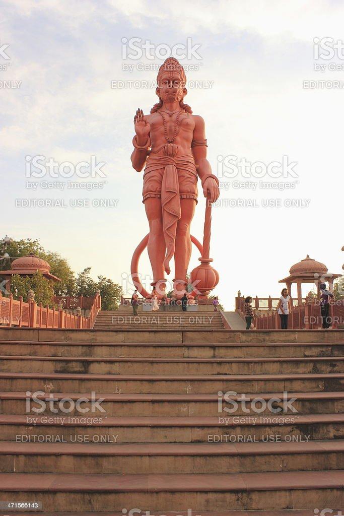 Hanuman - 108 feet tall idol of Hindu god stock photo