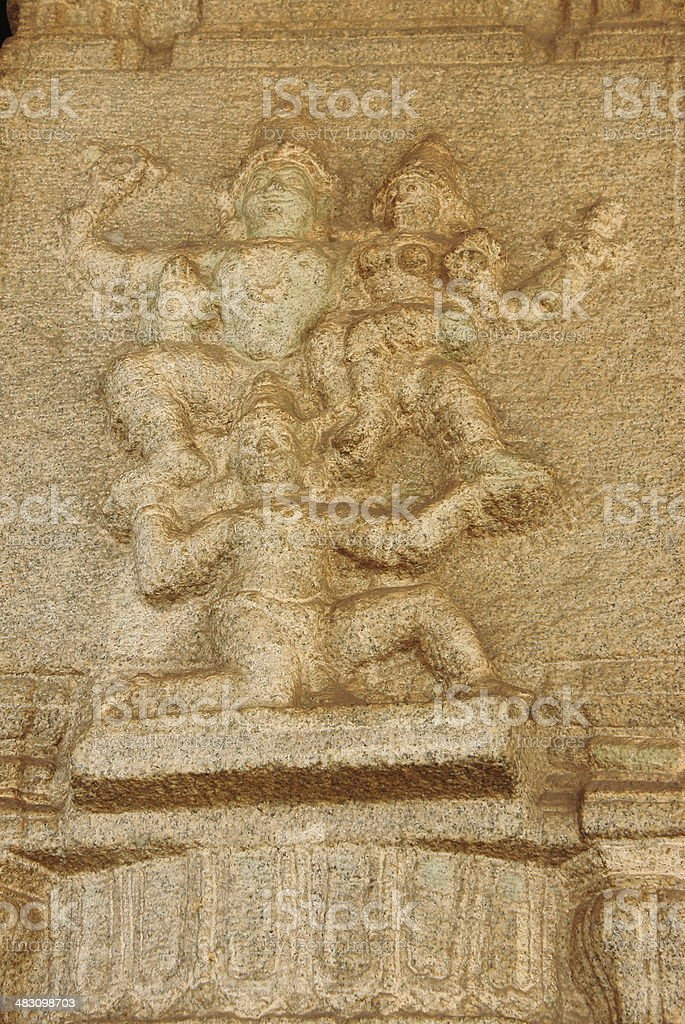 Hanuman carrying Ram and Sita stock photo