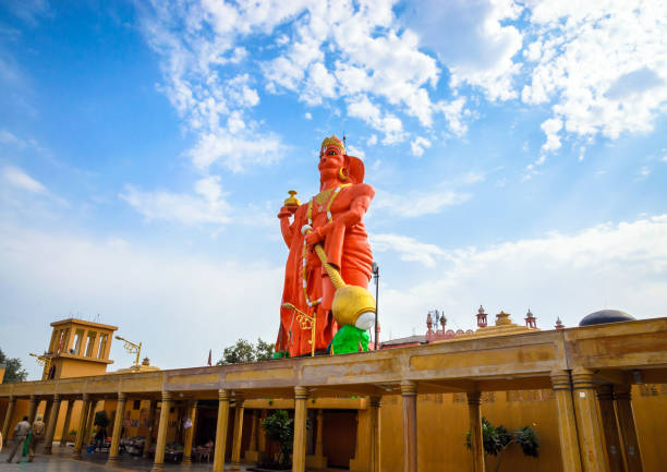 Hanuman monument in the temple complex  Bhagwan Valmiki Tirath Sthal near Amritsar, Punjab, India Hanuman monument in the temple complex  Bhagwan Valmiki Tirath Sthal near Amritsar, Punjab, India hanuman stock pictures, royalty-free photos & images
