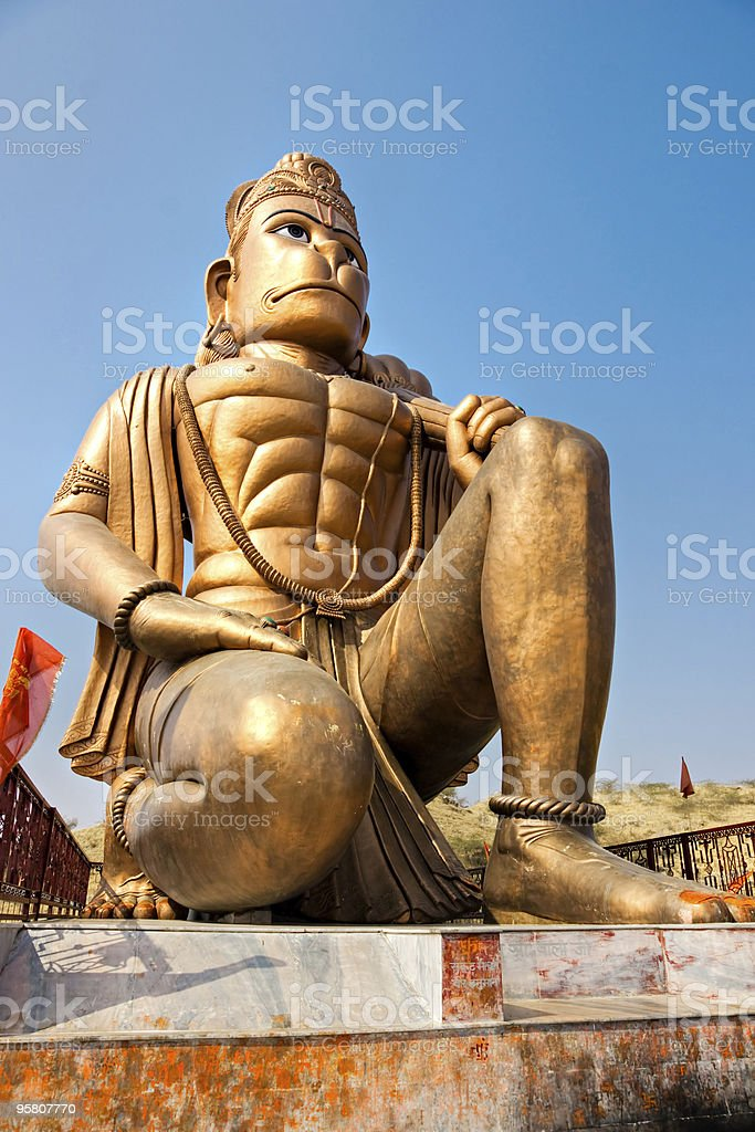 Hanuman Statue, Rajasthan, india. stock photo
