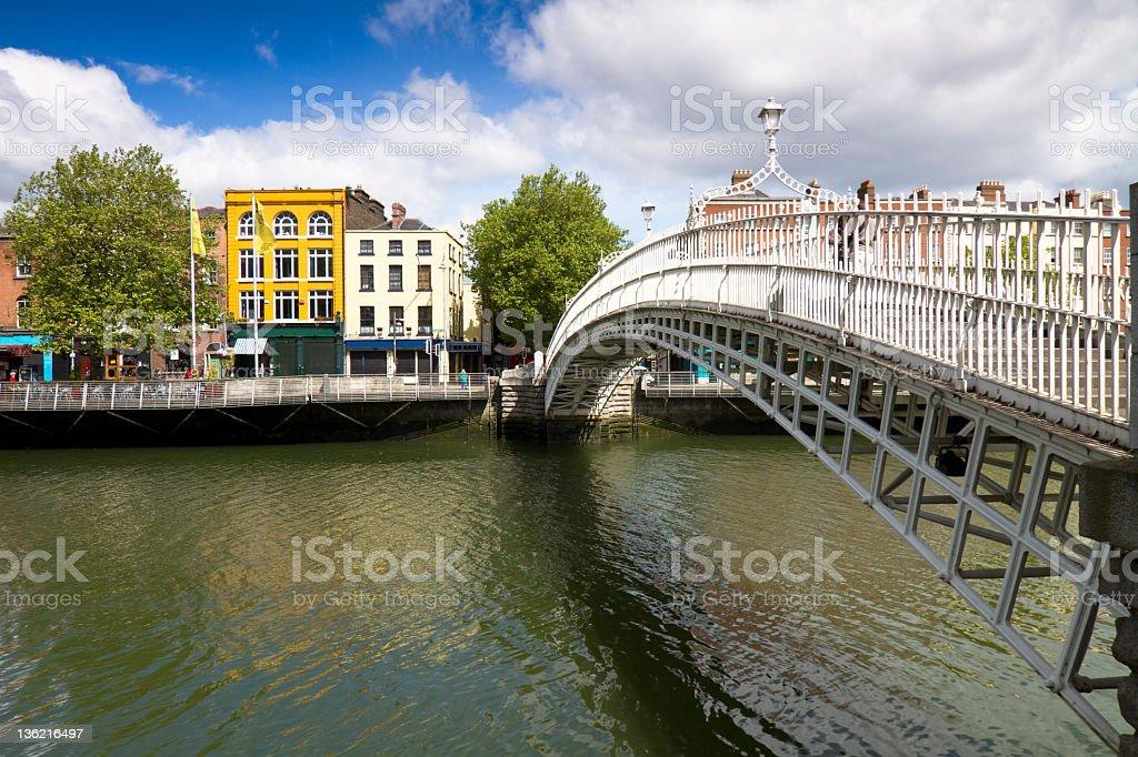 Ha'Penny bridge Dublin Ireland royalty-free stock photo