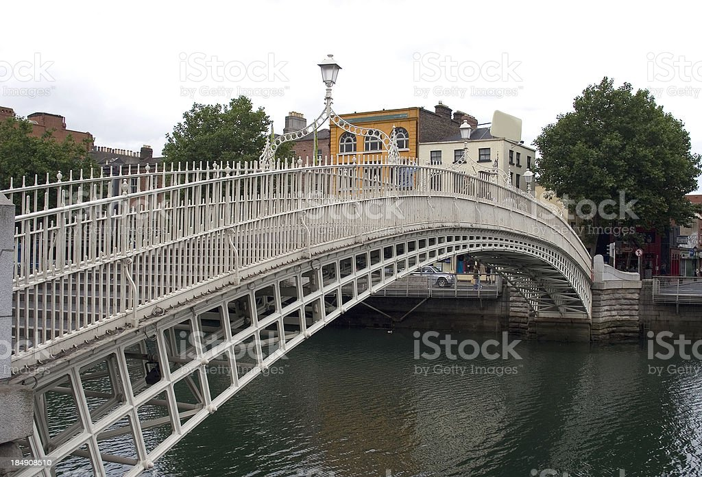 Ha'Penny Bridge, Dublin, Ireland stock photo