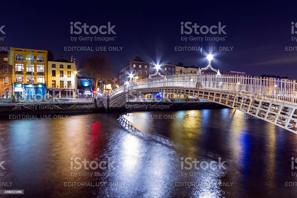 Ha'Penny bridge Dublin Ireland stock photo