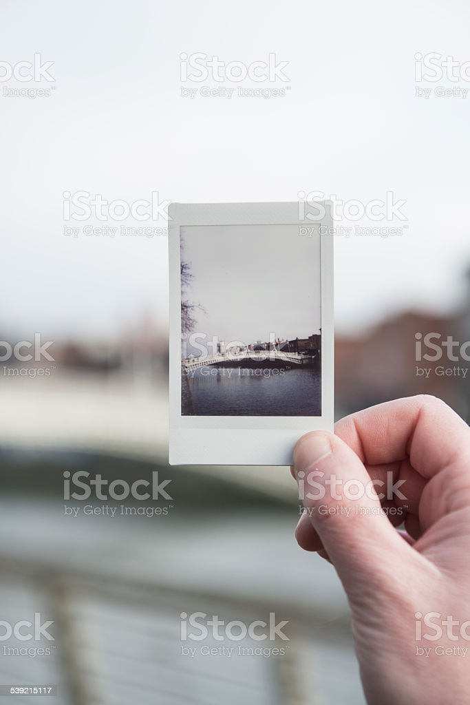 Ha'penny Bridge Dublin, Ireland. stock photo