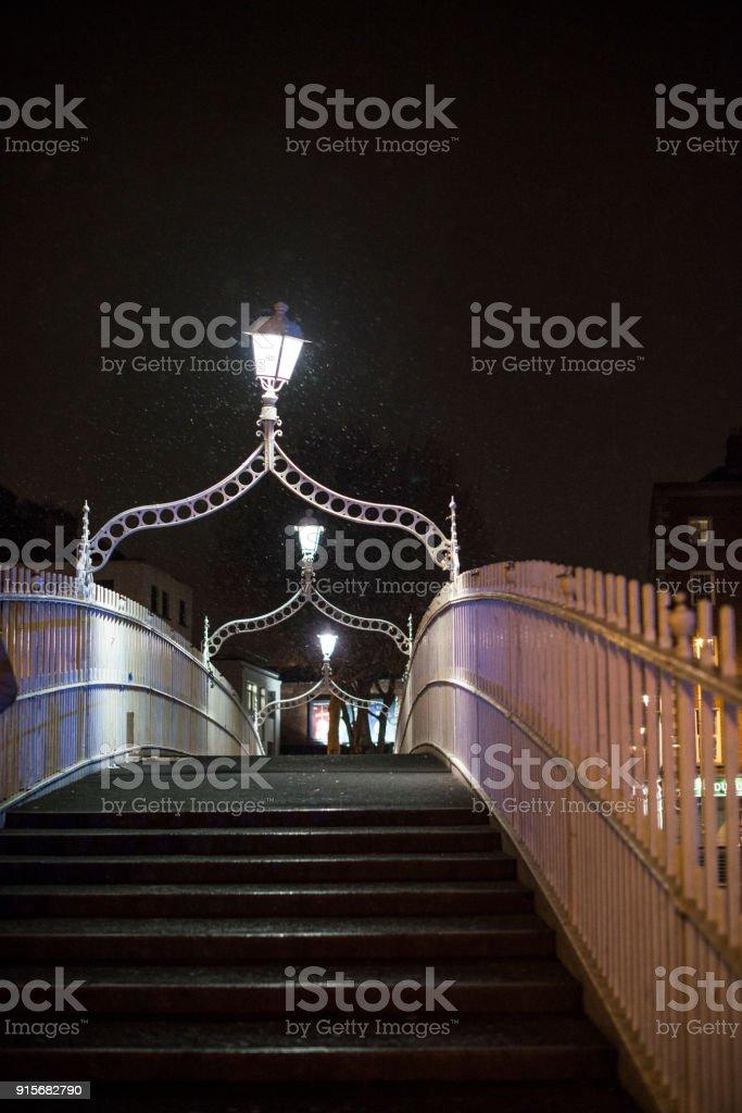 Ha'penny Bridge, Dublin, Ireland. royalty-free stock photo