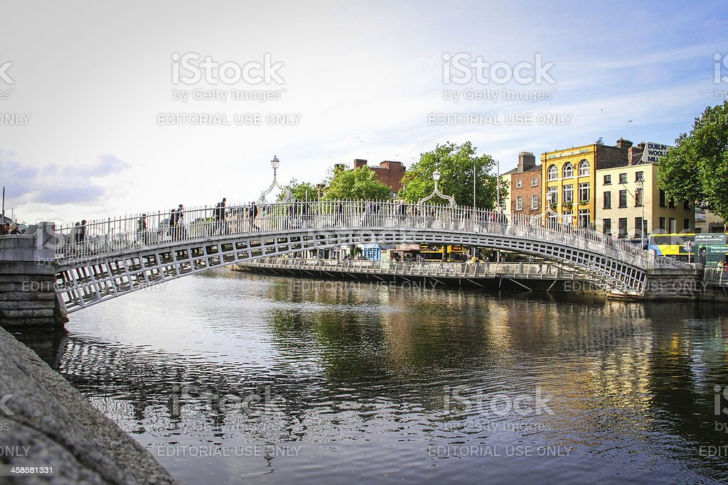 Ha'penny Bridge, Dublin stock photo